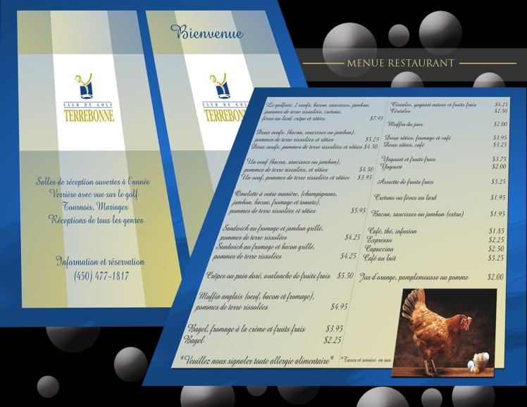 Montage menue restaurant