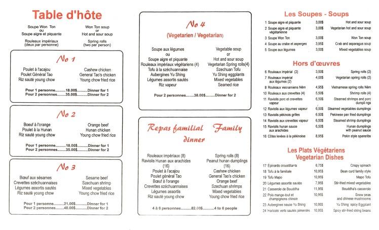Page1 menu livraison