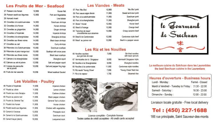Page2 menu livraison